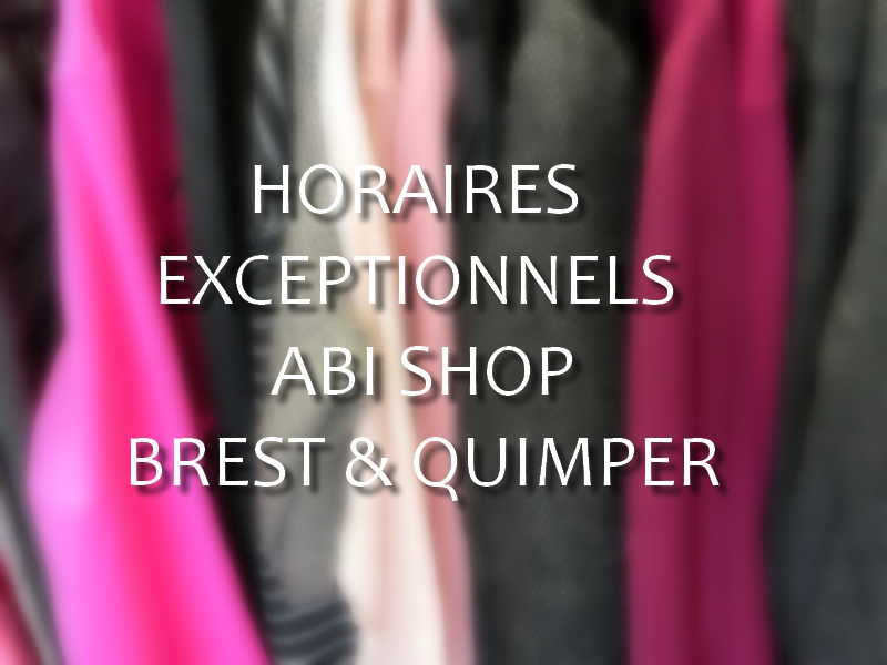 Semaine n°3 : horaires exceptionnels.