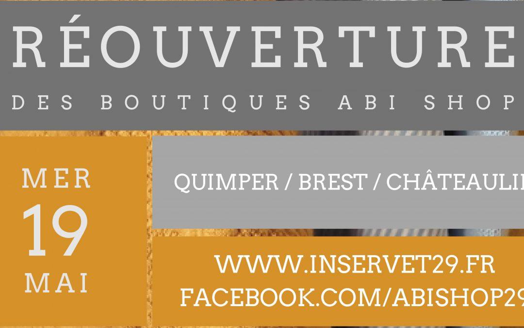 Réouverture des boutiques Abi Shop !