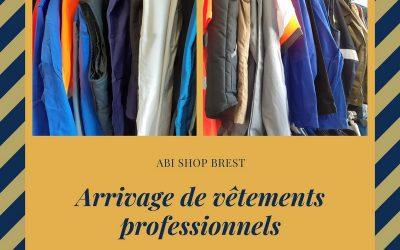 Arrivage de vêtements professionnels.