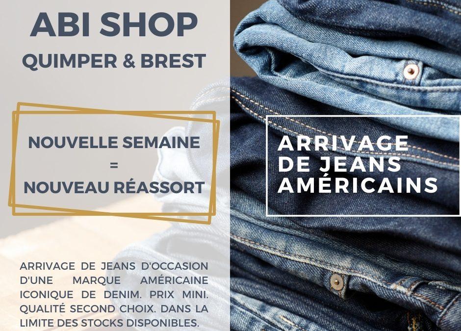 Réassort de jeans américains.